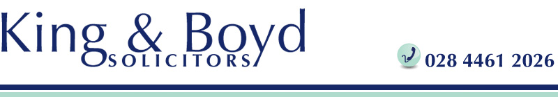 King and Boyd Solicitors top banner